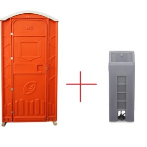 Toilettenkabinen + Handwaschbecken
