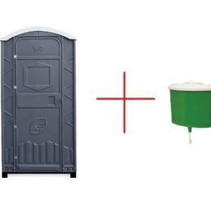 Toilettenkabinen + Handwaschbecken 5L